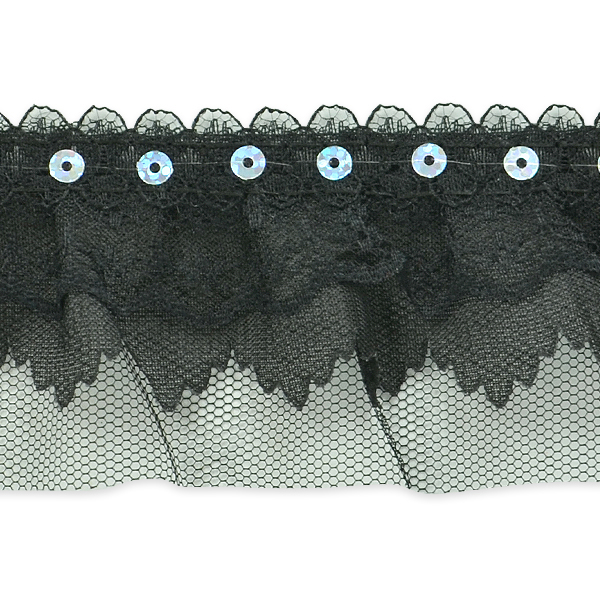 """Expo Int'l 5 yards of Elenor Sequin Embellished Lace Trim 2 1/6"""""""