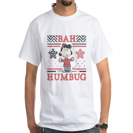 CafePress - Peanuts Lucy Ugly Christmas White T-Shirt - Men's Classic - Peanuts Lucy Dress