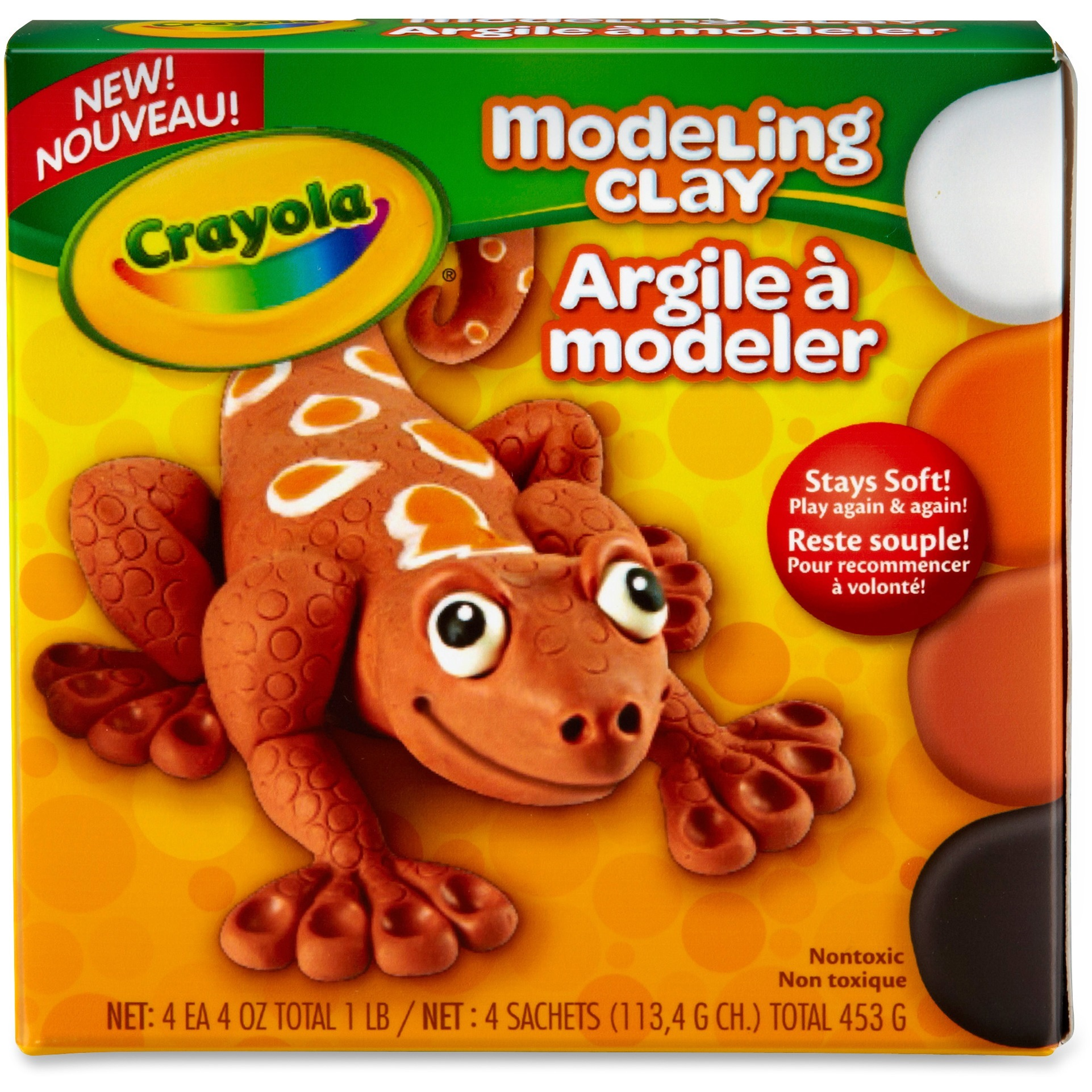 Crayola Modeling Clay, Pack Of 4, Natural
