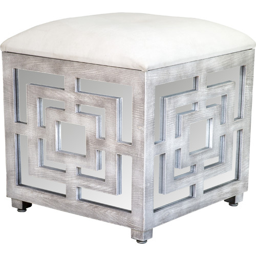 Statements by J Reena Mirrored Storage Ottoman