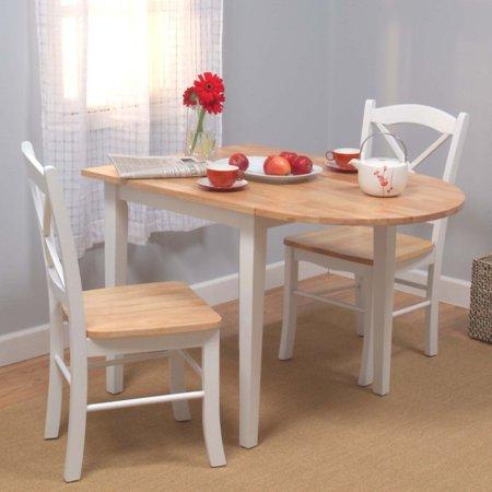 target marketing systems tiffany 3 piece dining table set walmart com