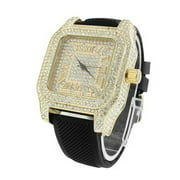 Gold Tone Mens Watch Roman Numeral Dial icy Lab Created Cubic Zirconias MOB Joe Rodeo Jojo