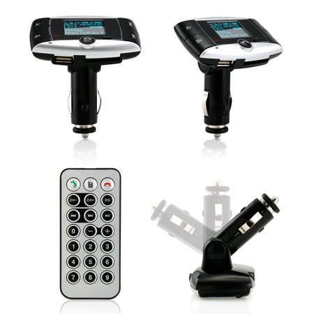 "1.5"" LCD Car Kit Bluetooth MP3 Player SD MMC USB Remote FM Transmitter Modulator - Walmart.com"