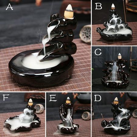 Ceramic Glaze Incense Backflow Censer Tower Holder Aroma Goods Smoke Cone