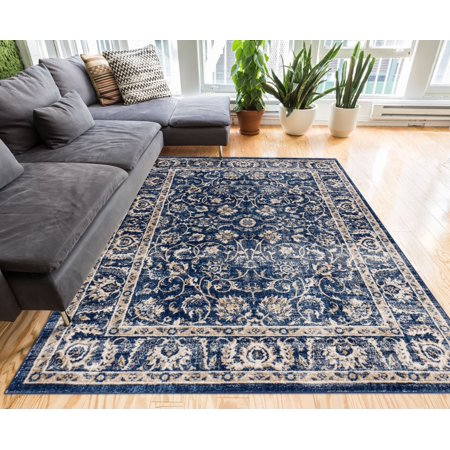 Well Woven Essex Vintage Traditional Persian Oriental Sarouk Area Rug Neutral Modern ()