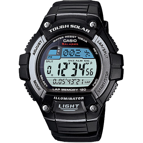Casio Men's Solar Powered 120-Lap Memory Watch