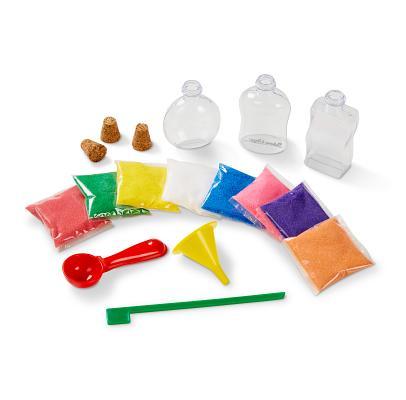 Melissa Doug Sand Art Bottles Craft Kit 3 Bottles 6 Bags Of