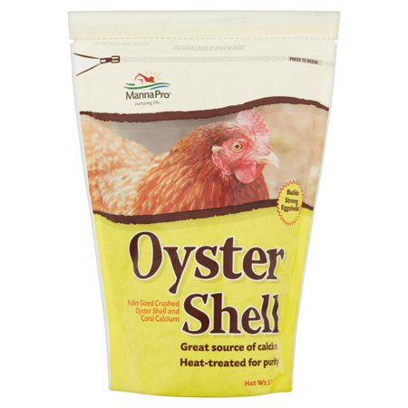 Oyster Shell Set (Manna Pro Crushed Oyster Shell Chicken Supplement, 5)
