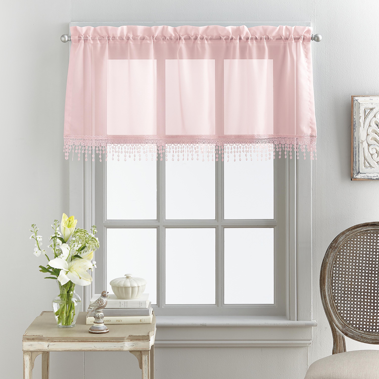 Mainstays Macrame Tailored Curtain Valance