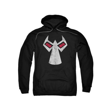 Batman Hoodie Mask (Batman DC Comics Bane Mask Outline Accents Adult Pull-Over)