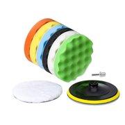 """8Pcs 5"""" Buffing Sponge Polishing Pad Kit Set For Car Polisher Buffer US"""