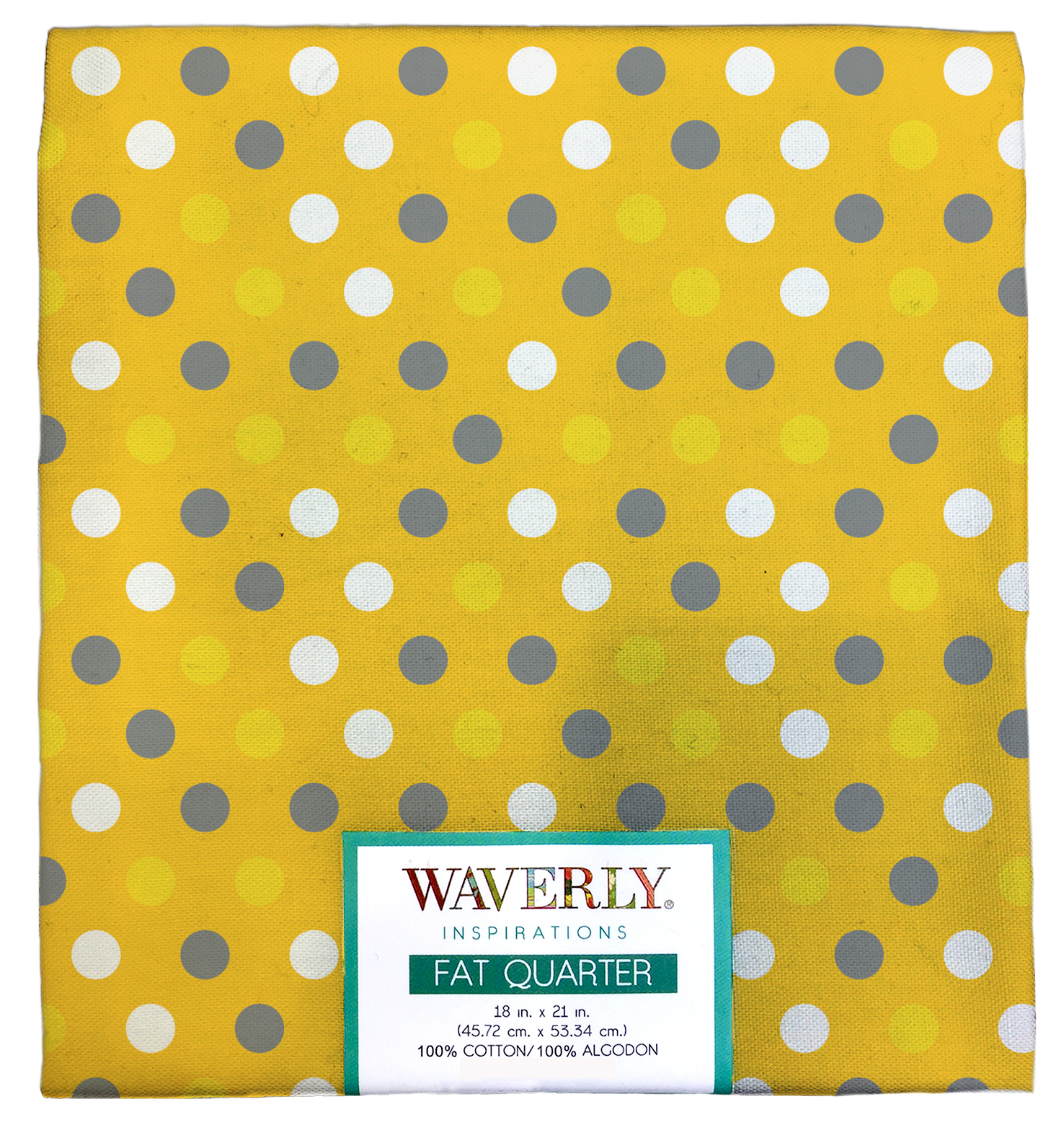 "Waverly Inspiration Cotton Fat Quarter 18"" x 21"" Multi Dot Sun Fabric, 1 Each"