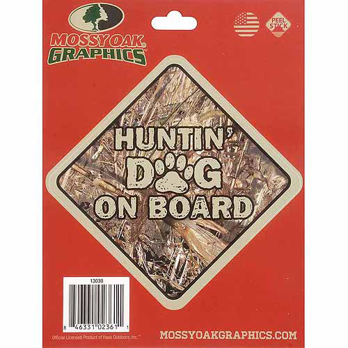 Mossy Oak Graphics Huntin' Dog on Board Decal, Duck Blind