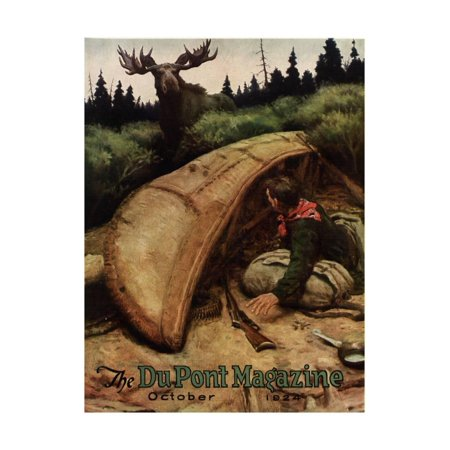 Moose Attack!, Front Cover of the 'Dupont Magazine', October 1924 Print Wall Art By American School