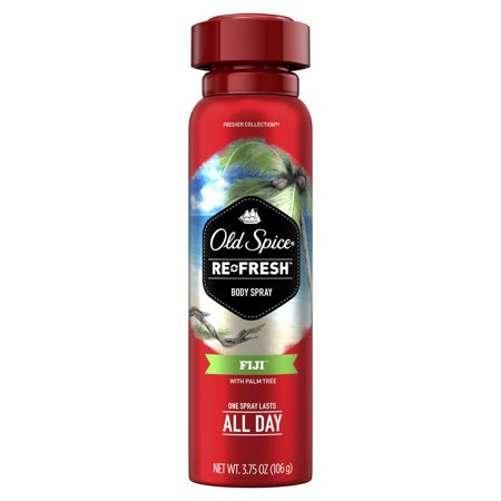 Old Spice Fresher Fiji Scent Body Spray for Men, 3.75