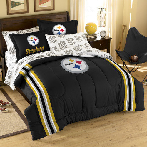 "Pittsburgh Steelers NFL Embroidered Comforter Set (Twin/Full) (64"" x 86"")"