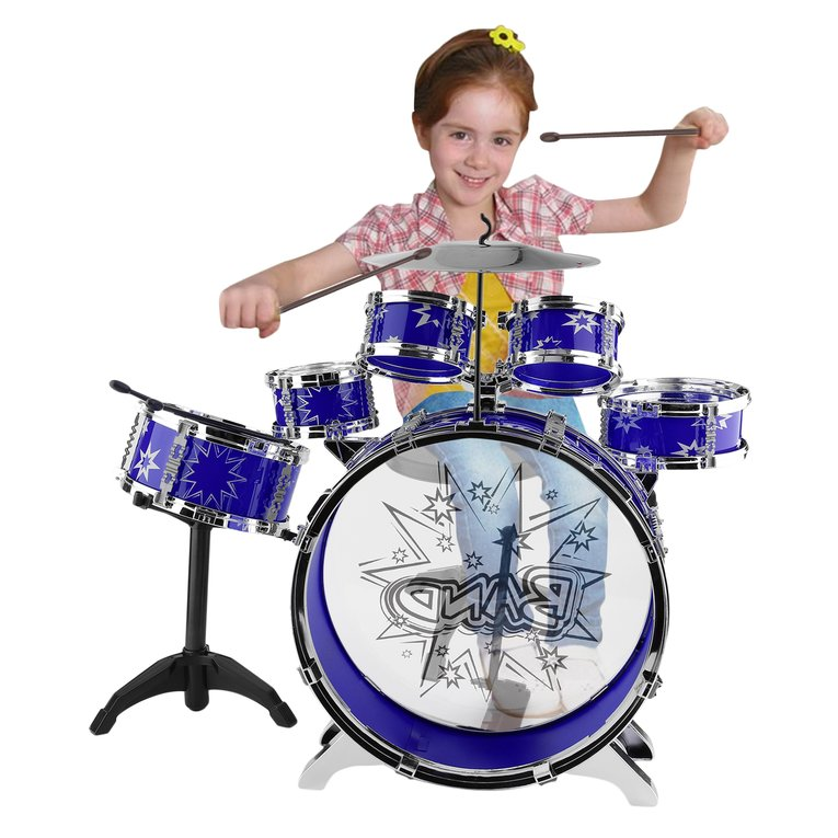 New Arrivals Kids Junior Drum Kit Tom Drums Cymbal Stool Drumsticks Set Musical Instrument by wantyou