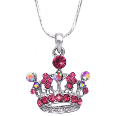 cocojewelry Queen Princess Crown Tiara Pendant Necklace (Queen Bee Necklace)