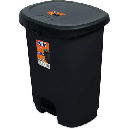 hefty 7 gallon step on trash can. Black Bedroom Furniture Sets. Home Design Ideas
