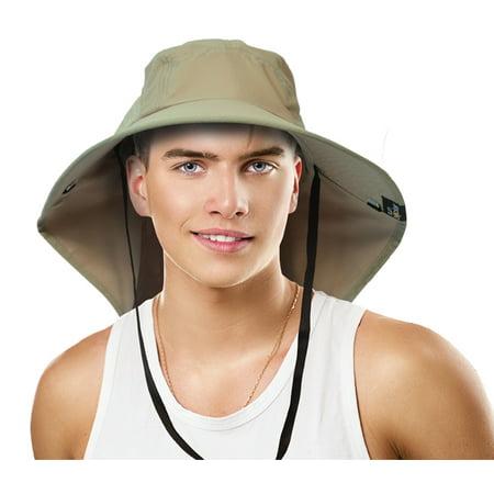 ffc45eae797 Sun Blocker Outdoor Sun Protection Fishing Cap with Neck Flap
