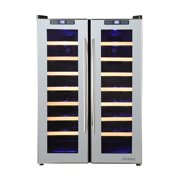 Vinotemp VT-48TSSM-2Z 48-Bottle Dual-Zone Thermoelectric Mirrored Wine Cooler