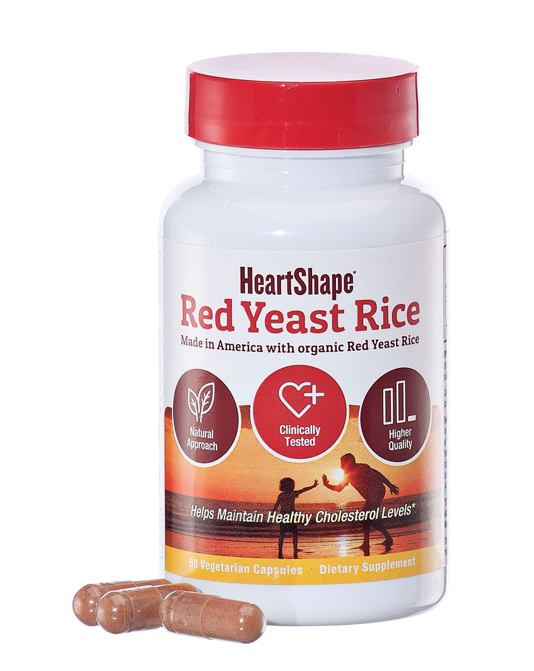 HeartShape Red Yeast Rice Veggie Caps by AsWeChange