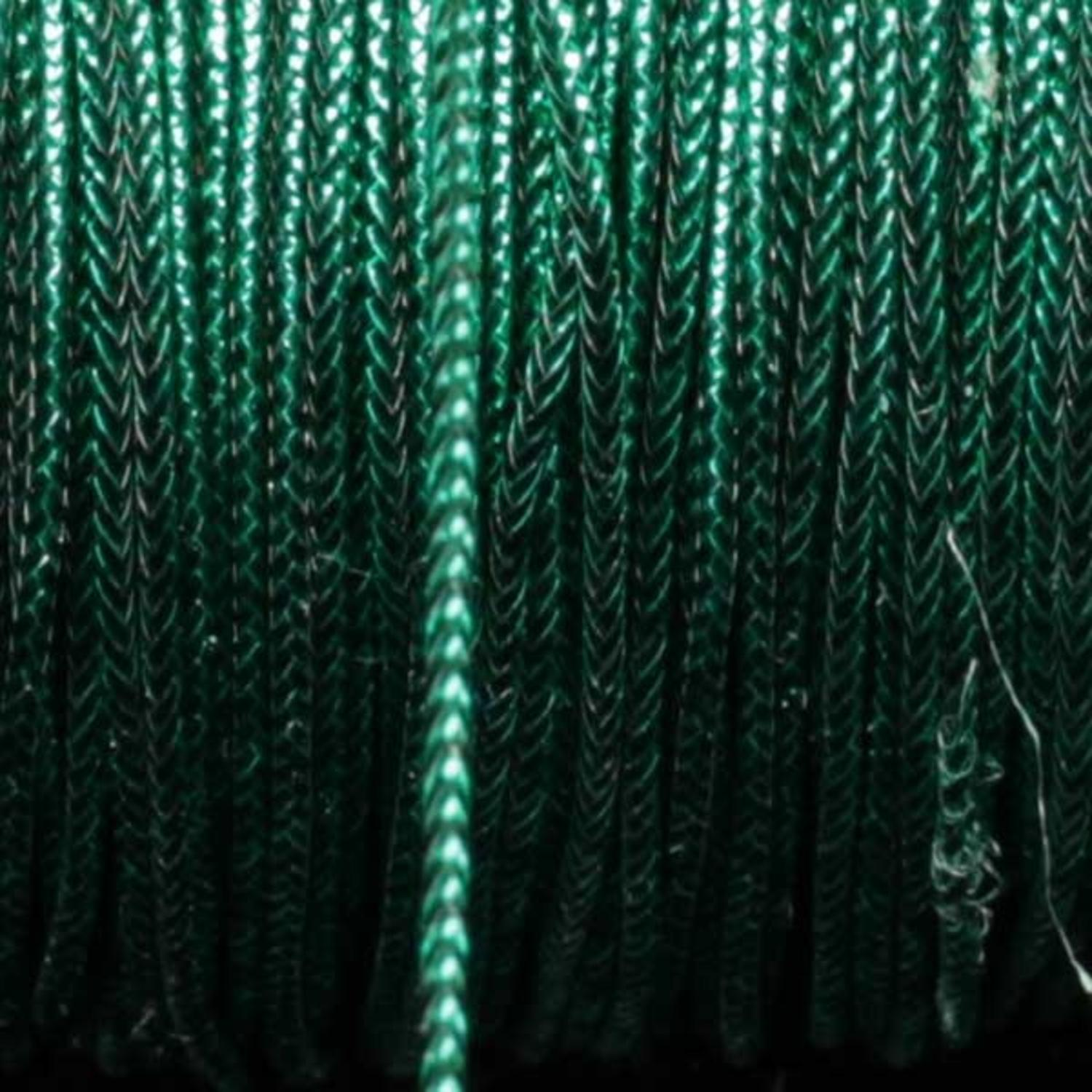 Metallic Green Braided Cord 1mm x 436 Yards