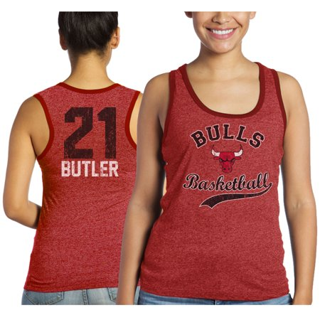 Jimmy Butler Chicago Bulls Majestic Threads Women s Name and Number Tri- Blend Tank Top - Red - Walmart.com 976860329