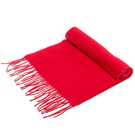 Gf Pro Ultra Soft Luxurious Cashmere Winter Scarf Scarves For Men   Women  Redscarf
