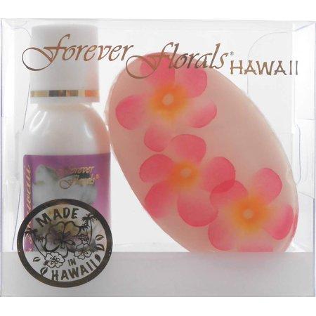 Hawaiian Forever Florals Set Lotion and Glycerin Soap Gardenia Hawaiian Glycerin Soap