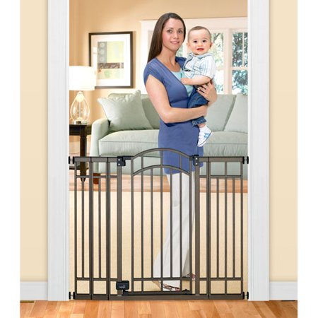 Home Safe Extra Tall Walk Through Decorative Baby Gate, 28