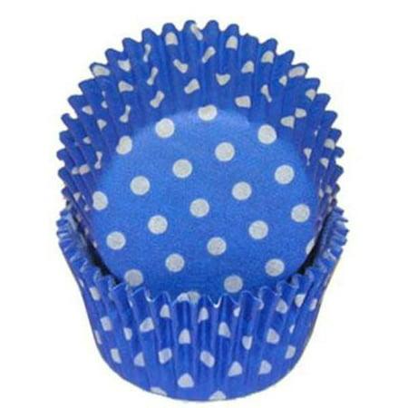 Blue & White Polka Dot - Baking Cupcake Liners - 50 Count - Purple Polka Dot Cupcake Liners