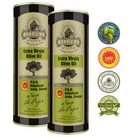 Ellora Farms Single Origin Single Estate   Traceable & Cold Press   Greek PDO Extra Virgin Olive Oil Round Tins   16.9 Oz BPA Free Tins   Pack of 2