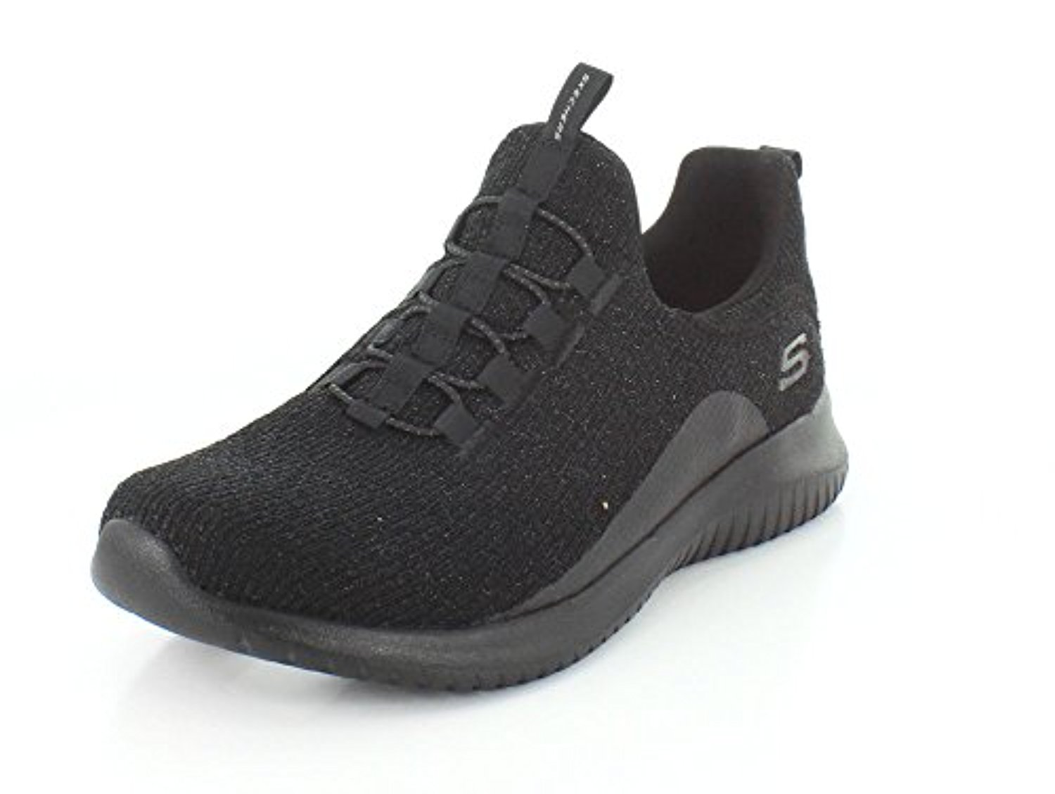 12830 BBK Black Skechers Shoe Memory Foam Women Slip On Comfort Casual Knit Mesh 12830BBK by Skechers