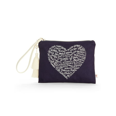 - EV1 from Ellen Degeneres Evening Blue Pouch Wristlet