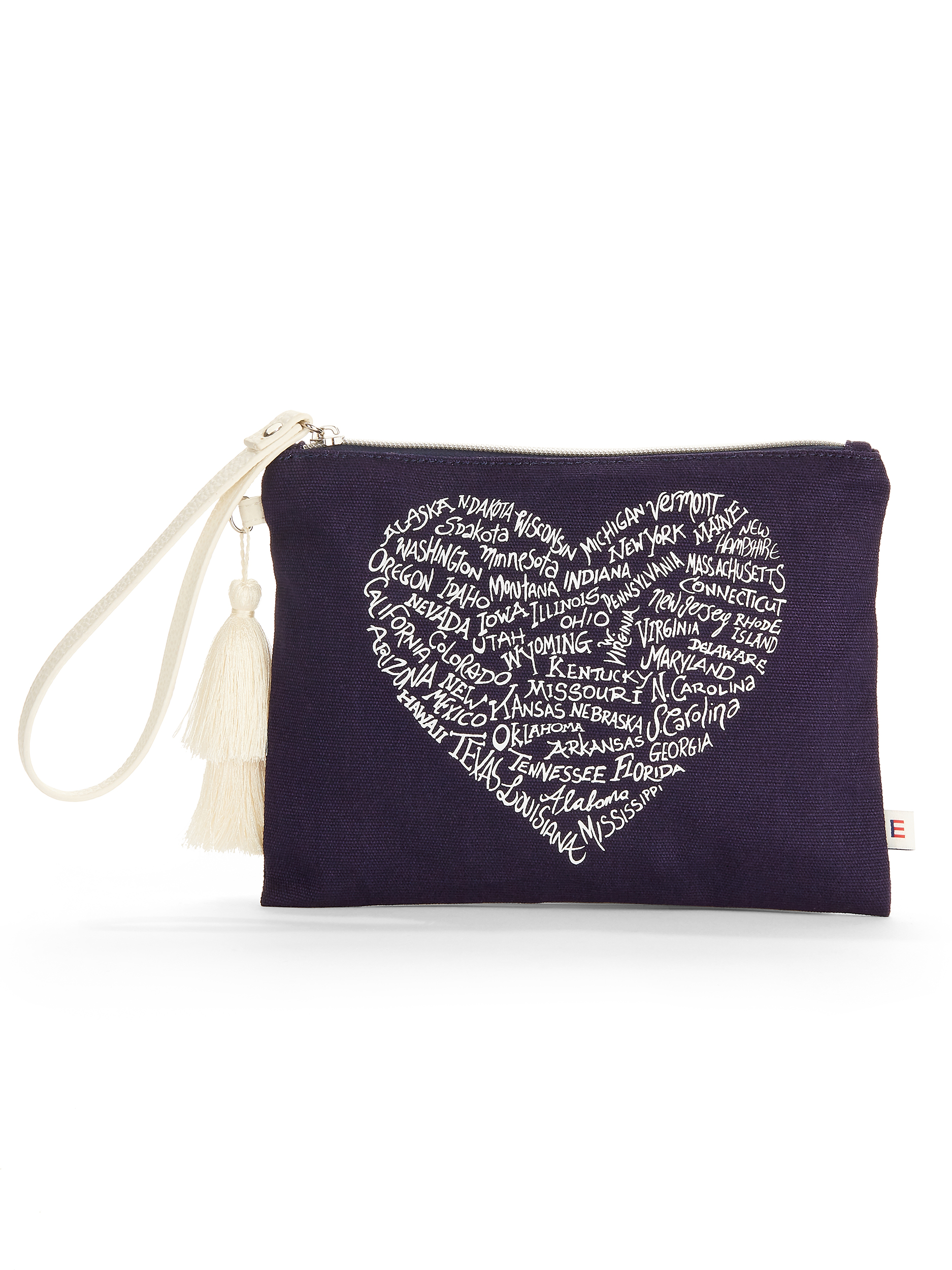 Evening Blue Pouch Wristlet