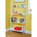 Leaning Wall 5 Shelf Bookcase Black