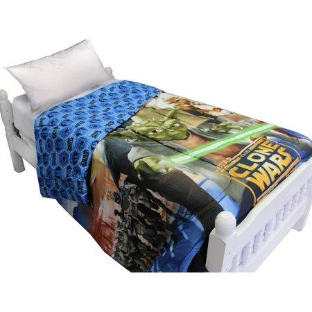 Star Wars Full Comforter Clone Wars Space Bedding (Star Wars Full Comforter)