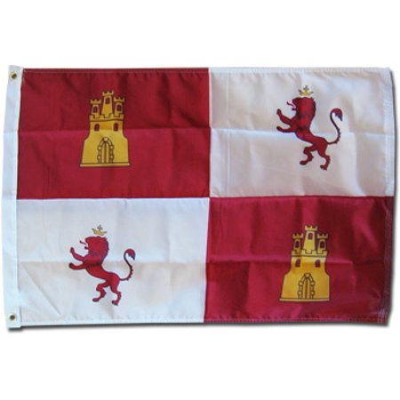 Image of Castile and Leon (Lions and Castles) - 2'X3' Nylon Flag