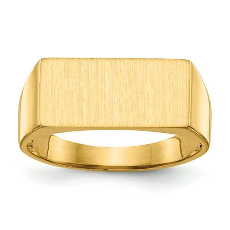 14K Yellow Gold Men's Signet Ring - image 5 de 5