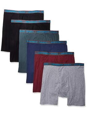 6 Men's Big and Tall USA Classic Design ComfortFlex Waistband Mid Length Boxer Briefs Underwear