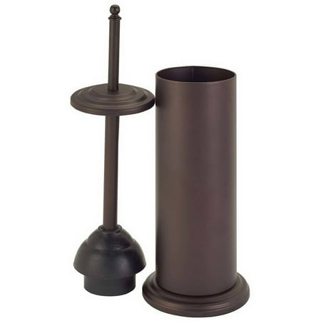 bath bliss toilet plunger with decorated rim oil stained bronze finish. Black Bedroom Furniture Sets. Home Design Ideas