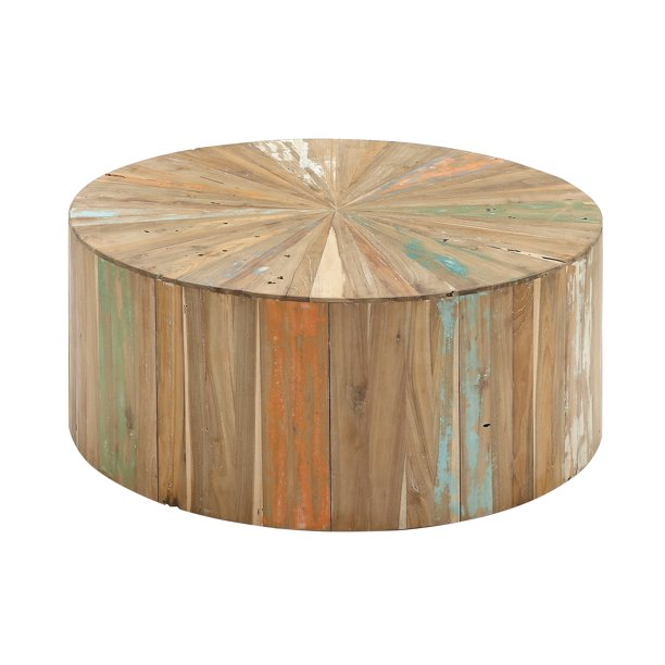 Decmode Rustic Reclaimed Wood Round
