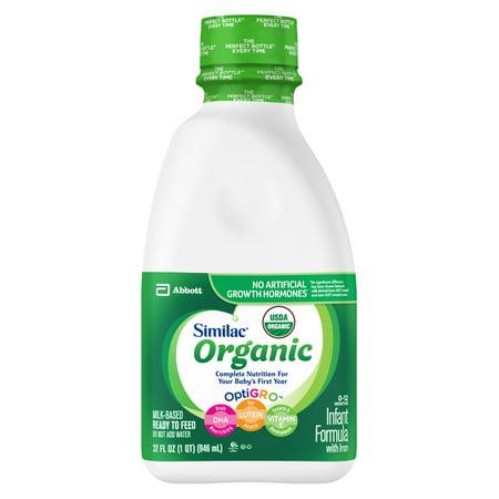Similac Organic Infant Formula with Iron Baby Formula 1 qt (Best Organic Infant Formulas)