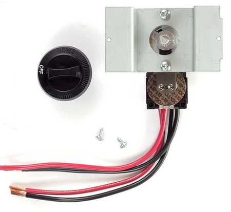 CADET Double Pole Thermostat,Mounted,Black,25A UCT2B