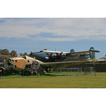 Canvas Print Display Bomber Airplane Ventura Aircraft Wreck Stretched Canvas 10 x 14