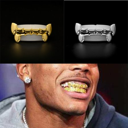 Hip Hop Teeth Drip Custom Vampire Caps Color Plated Hip-hop Top Bottom Grill](Custom Vampire Dentures)