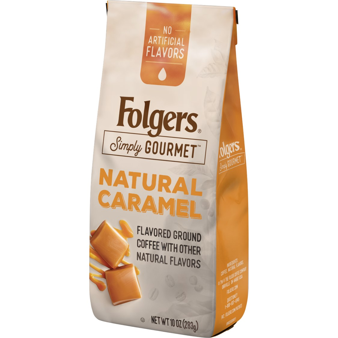 Folgers Simply Gourmet Natural Caramel Flavored Coffee