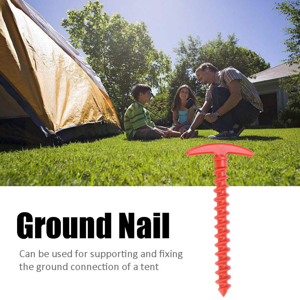 5pcs Nylon Outdoor Camping Trip Tent Peg Ground Nails Screw Nail Stakes, Camping Screw Stakes, Outdoor Screw Nail
