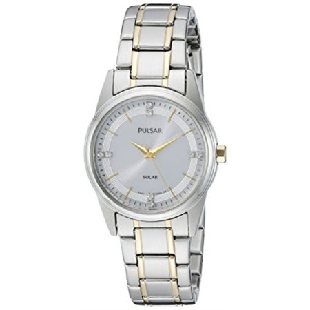 - Pulsar Women's PY5003 Solar Dress Analog Display Japanese Quartz Two Tone Watch